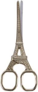 M124-002 Designer Embroidery  Eiffel Tower Gold Scissor, 5-1/2-Inch