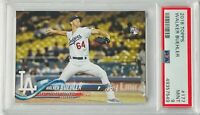 WALKER BUEHLER ROOKIE 2018 TOPPS CARD #177 PSA GRADED MINT 9 LOS ANGELES DODGERS