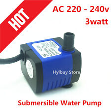 AC 220~240V Micro Submersible Water Pump 220L/H 3W For Fountain Fish Aquarium US