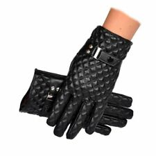 Male Black Leather Fashion Touch Screen Driving Gloves Winter Gloves Mittens