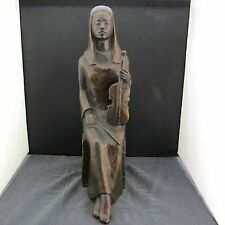 """alte Bronzefigur """"sitzende Frau mit Geige"""" Vera Mohr-Möller"""