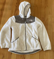 North Face Girls Kids Oso Hoodie White Fleece Size M 10-12