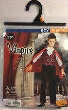 Seasons Vampire With Shirt And Cape Boy's Costume Size Medium (8-10)