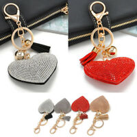 Newest Cute Rhinestone Crystal Heart Pendant Keyrings Keychain Key Chain