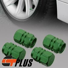 4X AUTO CAR TRUCK MOTORCYCLE GREEN WHEEL TIRE TIRE AIR VALVE PROTECTION STEM CAP