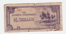 THE JAPANESE GOVERNMENT 1/2 Half Shilling WWII BANKNOTE Invasion Money Z-352