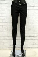 Pantalone Donna JECKERSON Taglia 28 Jeans Pants Woman Cotone Slim Skinny Nero