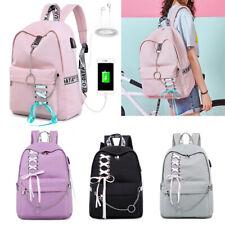 Waterproof Women Backpack USB Charge Travel Laptop Girl School Bags Bagpack 2019