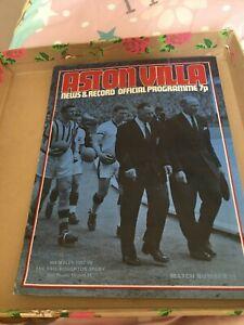 Aston Villa football programme Wembley 1957 Eric Houghton story