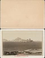 France, Marseille, château d'If et les îles Vintage CDV albumen carte de vi