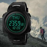 Men's Military Tactical Compass Countdown 3 Alarm Digital Sport Watch Wristwatch