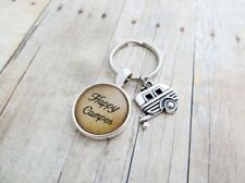 Happy Camper - Handcrafted Pendant Keychain With Camper Charm