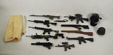 Lot of GI Joe Guns Toy Soldier Guns Misc Helmets Clothing & Vintage G I Joe Book