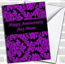Viola Nero Floreale damascato anniversario romantico carta personalizzati