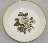Royal Worcester White Rose Torquay Pattern Bone China Pin Dish England c1958-61