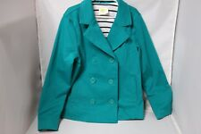 Crazy 8 Girls Double Breasted Jacket - Teal - Size M 7/8