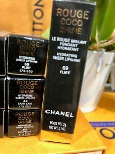 CHANEL ROUGE COCO SHINE HYDRATING COLOUR LIPSHINE #69 FLIRT