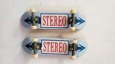 Lot 2 Tech Deck STEREO Fingerboard 96mm Skateboard Light Blue Red White