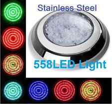 HQ Stainless Steel 558 LED Lights RGB 7Colour  Swimming Pool Spa Wall Mounted