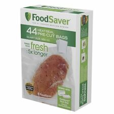Food Bags FoodSaver Heat Seal Pre Cut Multi Ply Material Quart Size 44 Pieces