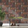 Library Bookshelf Wallpaper Brown / Multi Bookcase by Rasch 934809
