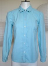 OLD NAVY baby blue button down long sleeve puff shoulder 100% cotton size XS