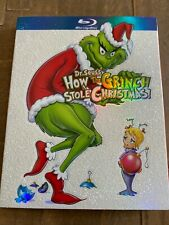 How the Grinch Stole Christmas (Blu-ray/Dvd) Glitter/Snow Slip Cover, No Digital