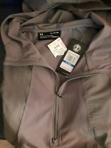 Women's Under Armour 1/2 Zip Grey Jacket. Size XL. Brand New with Tags
