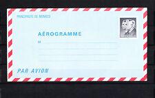 MONACO   entier postal  aérogramme    3f30   noir