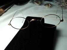 Authentic Vintage Eyeglasses Solid 10k Gold Oval Antique Spectacles Frames.