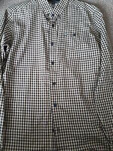 Men's Designer Weekend Offender Long Sleeved Checked Shirt Size M