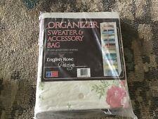 Vintage Prestige English RoSe Closet Organizer Sweater & Acc Bag 10 Shelves