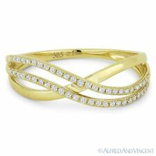 Ring in 14k Yellow Gold 0.15ct Diamond Right-Hand Multi-Arch Overlap Statement