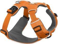 Harnais rembourrés orange en nylon pour chien
