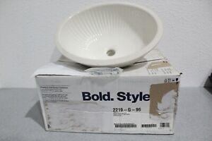 Kohler K 2219-G-96 Linia Biscuit Undermount Bathroom Sink w/Glazed Underside