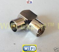 1x IEC PAL DVB Male plug to DVB Female jack RF adapter connector SHIPS FROM USA