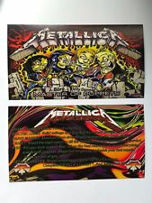 Metallica Stern Pinball Apron Instruction Cards