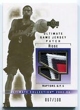 2003-04 Ultimate JALEN ROSE 4 Color Game Jersey Patch Rare Raptors SP #/100