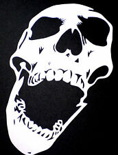 high detail airbrush stencil laughing  skull   FREE UK POSTAGE