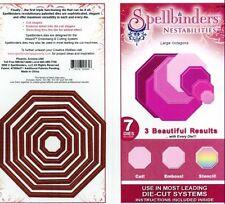 Spellbinders Nestabilities LARGE OCTAGONS 7 DIES S4-185 CUT EMBOSS STENCIL
