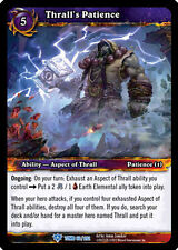 WOW WARCRAFT TCG TOMB OF THE FORGOTTEN : THRALL'S PATIENCE X 3