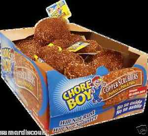 CHORE BOY  COPPER SCRUBBER , 15  PIECES  LOT ...100 % COPPER ... NEW