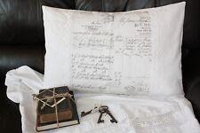 *Deko-Traeume* Kissenhülle Leinen Script Weiß 30 x 50 cm mit Spitze - Engel