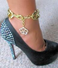 sexy anklet with Rhinestone Floral Charm Miss Lil Diva Wide Gold gep Smokin