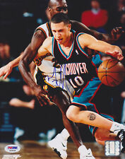 Mike Bibby SIGNED 8x10 Photo Vancouver Grizzlies RARE PSA/DNA AUTOGRAPHED