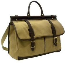 New KORCHMAR L9245 Cotton Leather Trim Callahan Stagecoach Duffel Bag $425