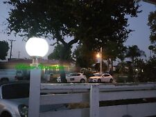Outdoor Solar Power LED Path Lite Landscape Mount Garden Fence Lamp Round Light