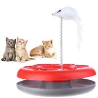 Cat Toy Spring Mice Crazy Amusement Disk Play Activity Pet Kitten Funny Toy Gift
