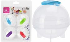 Pack of 4 Ice Ball Maker Party Bar Ice Cube Ball Tray Round Ice Cube Mould