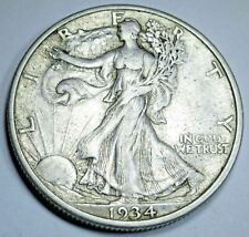 1934-S XF-AU United States Silver Walking Liberty Half Dollar Antique 50c Coin